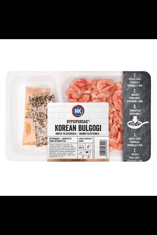 HK Rypsiporsas® Korean Bulgogi nopea fileesuikale ja maustepussit 335 g