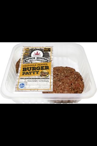 Pouttu & Poppamies Burgerpihvi 240 g, chipotle&pepper