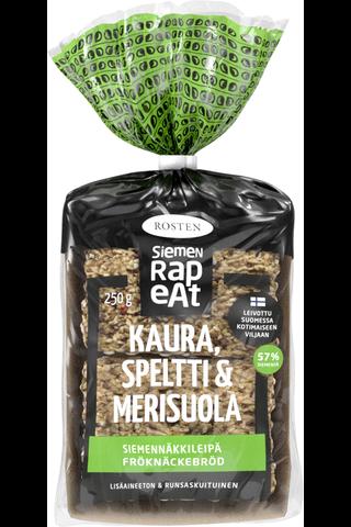 Rosten Kaura, speltti & merisuola siemennäkkileipä 12kpl 250g