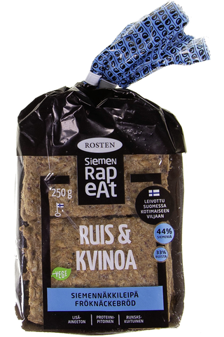 Rosten Ruis-kvinoa siemennäkkileipä 12kpl 250g