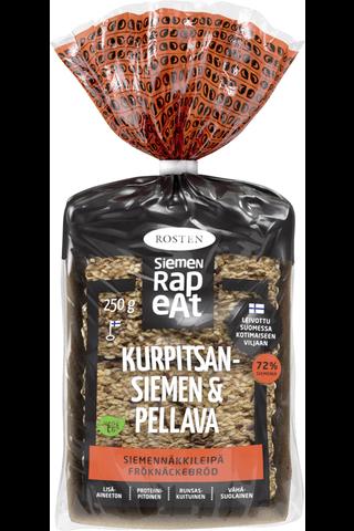 Rosten Siemenrapeat Kurpitsa & Pellava siemennäkkileipä 12kpl 250g