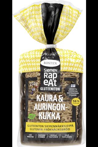 Rosten Siemenrapeat Gluteeniton Kaura & Auringonkukka siemennäkkileipä 10kpl 210g