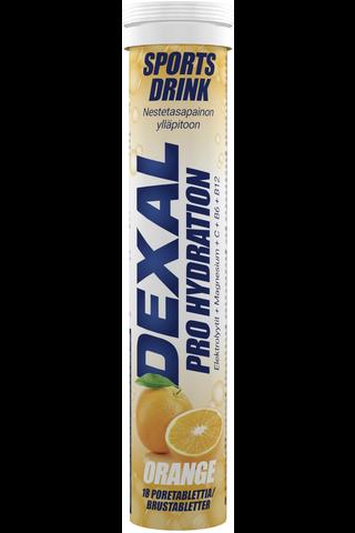 Dexal Pro Hydration appelsiini+C+B6+B12 poretabletti 18kpl ravintolisä