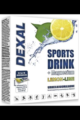 Dexal 10x9,2g Sports Drink + magnesium lemon-lime