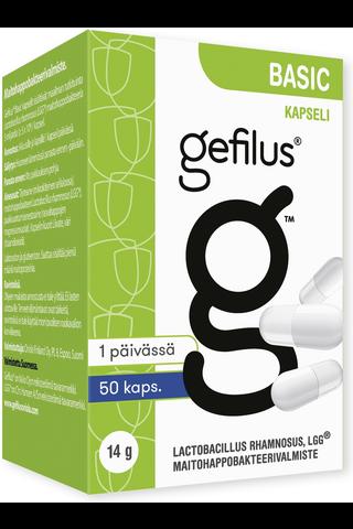 Gefilus Basic kapseli maitohappobakteerivalmiste 50kaps 14g ravintolisä