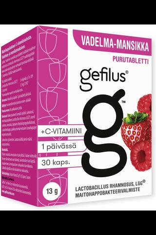 Gefilus 13g 30kpl vadelma-mansikka maitohappobakteeri purutabletti ravintolisä