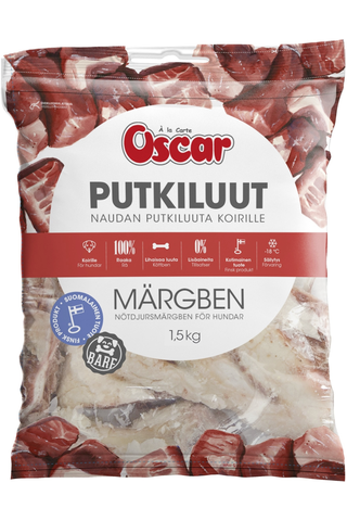 Oscar Naudan putkiluut koirille rehuaine 1kg