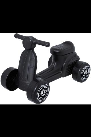 Plasto skootteri hiljaiset pyörät musta