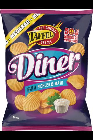 Taffel 325g Diner Pickles & Mayo maustettu perunalastu