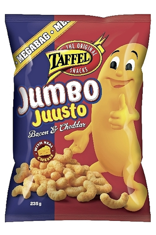 Taffel Jumbo pekoni juusto maustettu juustosnacks 235g