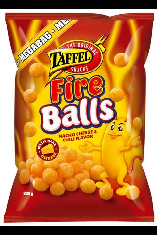 Taffel 235g Fire Balls Nacho Cheese & Chili Flavor maustettu juustosnacks