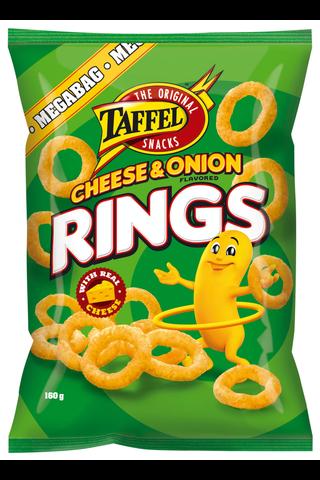 Taffel 160g Cheese Onion Rings maustettu juustosnacks
