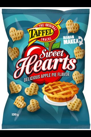 Taffel Sweet Hearts omena kaneli maustettu maissisnacks 130g