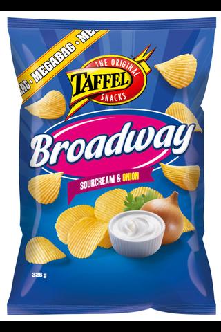 Taffel Broadway ranskankerma sipuli maustettu perunalastu 325g