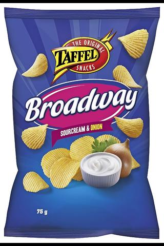 Taffel Broadway ranskankerma sipuli maustettu perunalastu 75g