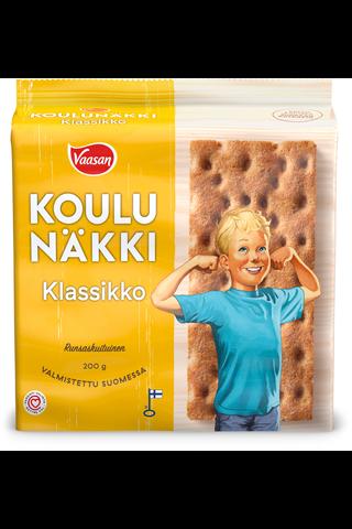 VAASAN KOULUNÄKKI Klassikko 200 g Täysjyväruisnäkkileipä