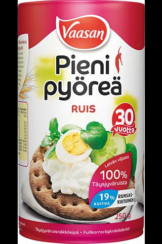 VAASAN PIENI PYÖREÄ Ruis 250 g täysjyväruisnäkkileipä