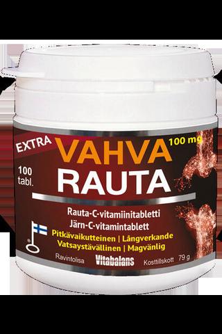Vitabalans 119g Extra Vahva Rauta 100mg rauta-C-vitamiinitabletti 100kpl