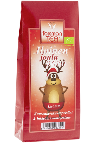 Forsman 60 g Luomu Iloinen jouluporo maustettu musta tee