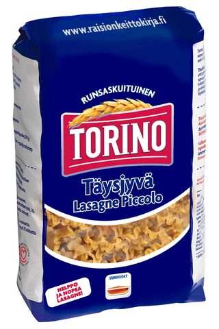 Torino 400g täysjyvä lasagne piccolo