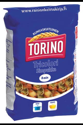Torino 425g tricolori simpukka pasta