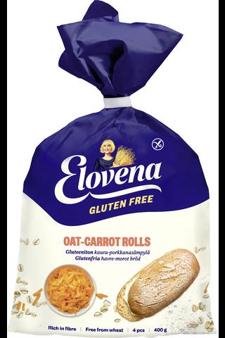 Elovena 400g gluteenittomat kaura-porkkanasämpylät, pakaste