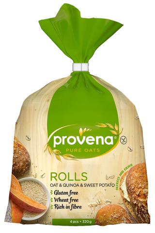 Provena 320g gluteenittomat kaura-kvinoa-bataatti sämpylät