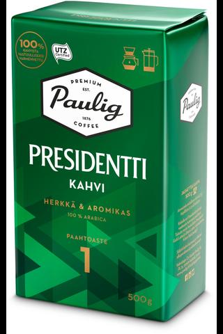 Presidentti 500g hienojauhettu kahvi
