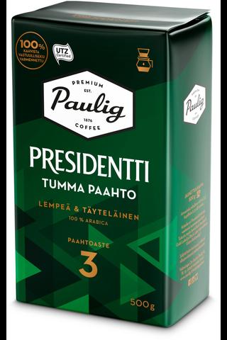 Presidentti Tumma Paahto 500g suodatinjauhettu kahvi