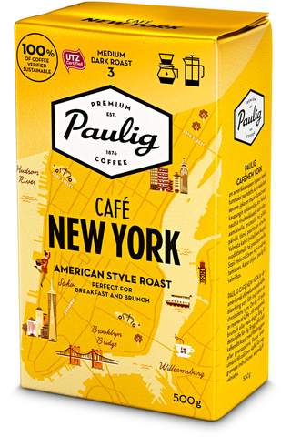 Paulig Café New York 500g hienojauhettu kahvi UTZ
