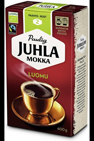 Juhla Mokka Luomu 400g hienojauhettu kahvi