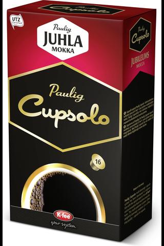 Paulig Cupsolo Juhla Mokka UTZ 16kpl paahdettua, jauhettua kahvia