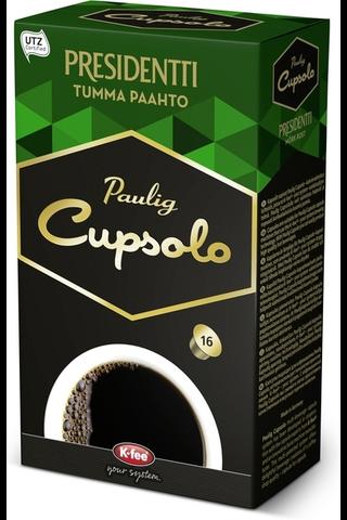 Paulig Cupsolo Presidentti Tumma Paahto UTZ 16kpl paahdettua, jauhettua kahvia