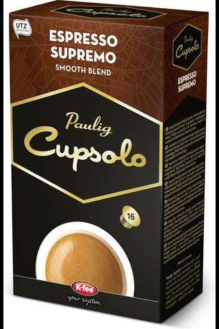 Paulig Cupsolo Espresso Supremo paahdettua jauhettua kahvia 16kpl UTZ