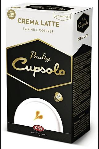 Paulig Cupsolo Crema Latte 16 kpl maitojauhe, vähälaktoosinen