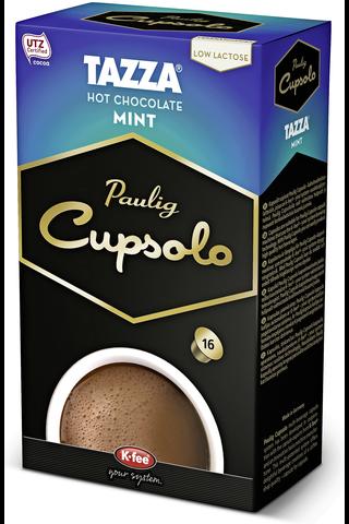 Paulig Cupsolo Tazza Mint kaakaojuomajauhe vähälaktoosinen 16kpl UTZ
