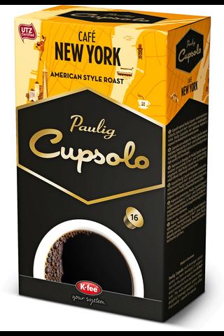 Paulig Cupsolo Café New York 16kpl UTZ paahdettua, jauhettua kahvia