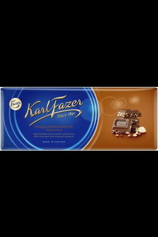 Karl Fazer 200g hasselpähkinärouhe (13,5%) maitosuklaalevy