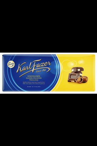 Karl Fazer 200g kokonainen hasselpähkinä (15%) maitosuklaalevy