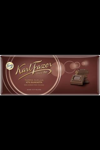 Karl Fazer 200g tumma suklaa 47%, suklaalevy