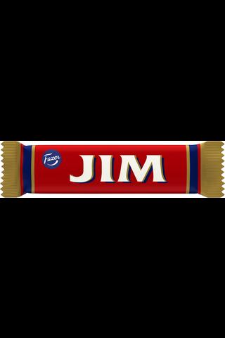 Jim 14g tummaa suklaata ja hedelmänmakuista vaahtotäytettä (69%) suklaapatukka