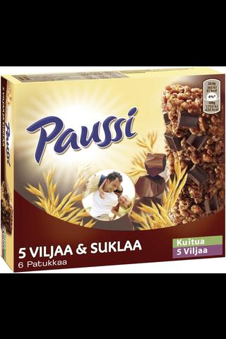 Paussi 5 Viljaa & Suklaa välipalapatukka 125g