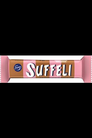 Suffeli 21g maitosuklaalla (39%) kuorrutettu toffeetäytteinen (24%) suklaavohveli