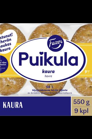 FAZER Puikula 550g 9kpl Kaura kauraleipä