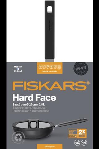 Fiskars Hard Face 26cm paistokasari kannella