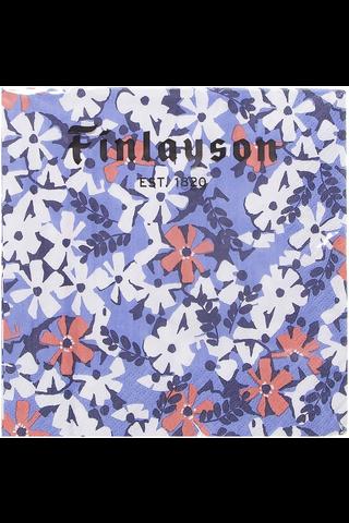 Finlayson 20kpl/24cm Ainikki sininen lautasliina