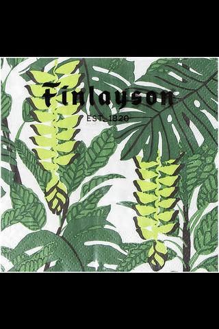 Finlayson 20kpl/24cm Bunaken valkovihreä tissue lautasliina