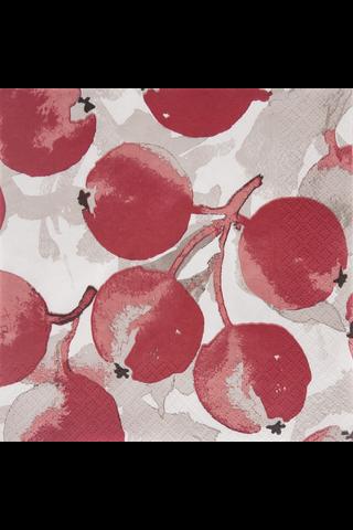 Pentik 20kpl/24cm Omenapuu punainen tissue lautasliina
