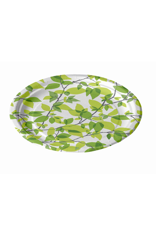 Finlayson 12kpl/18cm Kesäkuu vihreä matala kartonkilautanen