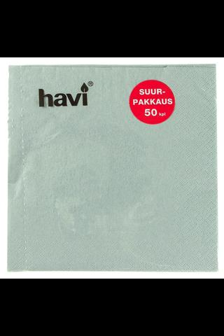 Havi 50kpl/33cm harmaa tissue lautasliina